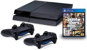 פלייסטיישן 4 כולל שני שלטים ומשחק GTA V